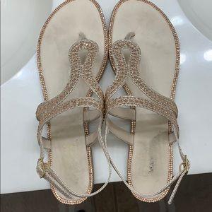 Bling bling sandals.  👡